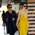 Kris Jenner et ses filles Kourtney Kardashian et Kendall Jenner à Agoura Hills, le 15 mars 2017.