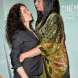"""Loubna Abidar et Elsa Lunghini- 7ème festival 2 Valenciennes : Clôture du festival """"documentaires"""", ouverture du festival """"fictions"""" le 15 mars 2017. © Veeren/Bestimage"""