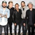 A. J. McLean, Nick Carter, Howie Dorough, Kevin Richardson et Brian Littrell - The Backstreet Boys à l'after party Larger Than Life au Chateau Nightclub & Rooftop à Las vegas, le 1er mars 2017 © CPA/Bestimage