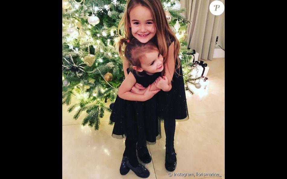 Exceptionnel Anna-Rose et Giuliana Lloris, les deux filles d'Hugo Lloris lors  SK78