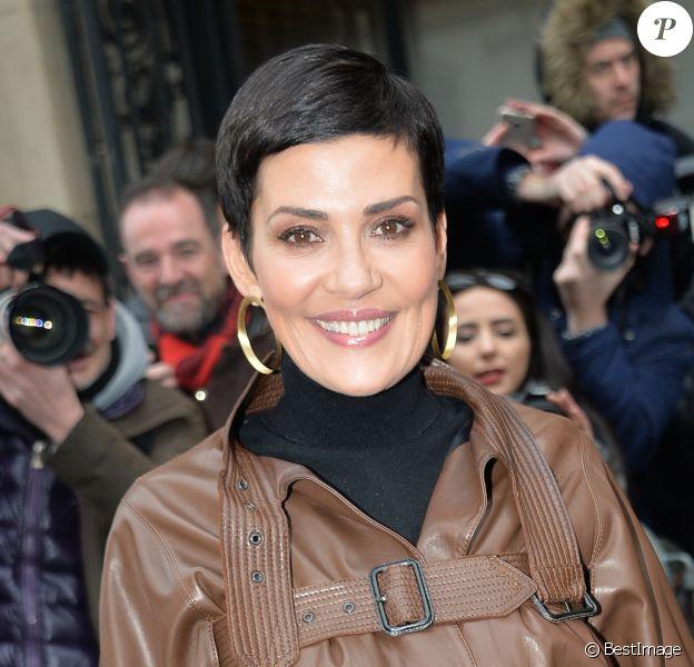 """Cristina Cordula - People arrivant au défilé de mode Haute-Couture printemps-été 2017 """"Jean-Paul Gaultier"""" à Paris le 25 janvier 2017. © CVS-Veeren/Bestimage"""