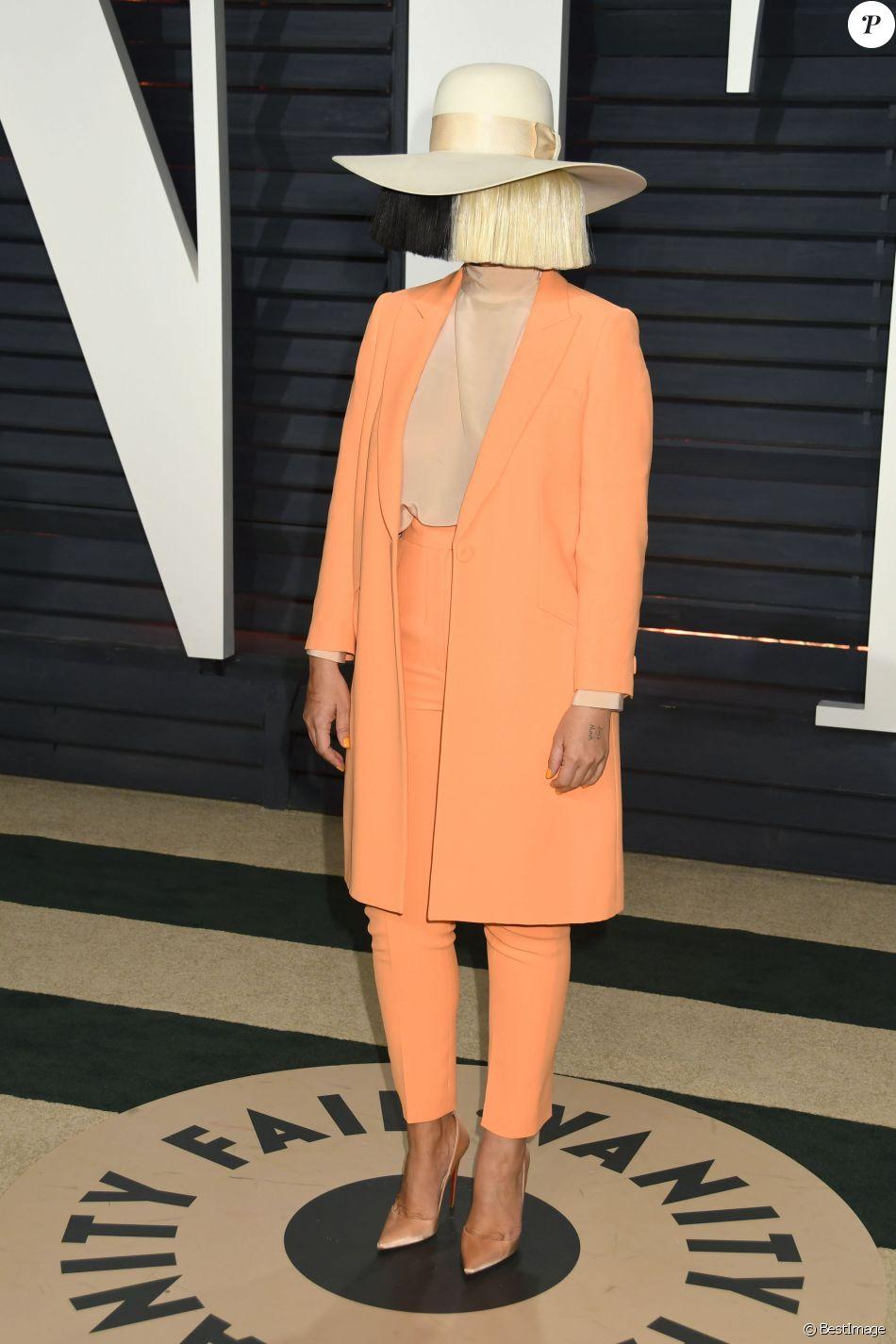 Sia à la soirée Vanity Fair en marge de la cérémonie des Oscar 2017 à Los Angeles le 26 février 2017. © Byron Purvis/AdMedia via ZUMA Wire / Bestimage