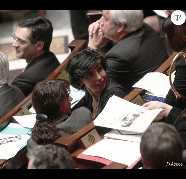 Rachida Dati, très en forme à L'Assemblée Nationale avec Fadela Amara