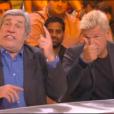 """Jean-Pierre et Benjamin Castaldi dans """"TPMP : La grande rassrah 2"""", le 30 mars 2017 sur C8."""