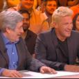 "Jean-Pierre Castaldi et Benjamin Castaldi dans ""TPMP : La grande rassrah 2"", le 30 mars 2017 sur C8."