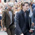 Victoria Beckham, son mari David Beckham et leur fils Brooklyn Beckham arrivent au restaurant Balthazar dans le quartier de Soho à New York City, New York, Etats-Unis, le 11 septembre 2016.