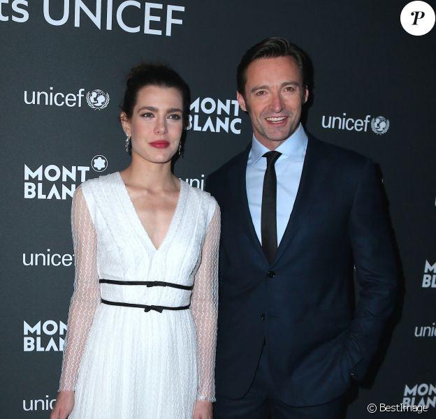 Charlotte Casiraghi et Hugh Jackman - Dîner de gala Montblanc & UNICEF à la New York Public Library à New York, le 3 avril 2017. © Morgan Dessalles/Bestimage