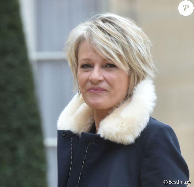 Sophie Davant lors des 30 ans du Téléthon pendant une réception au palais de l'Elysée à Paris, le 30 janvier 2017.