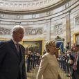 Bill Clinton et sa femme Hillary Rodham Clinton - Investiture du 45e président des Etats-Unis Donald Trump à Washington DC le 20 janvier 2017