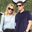 Jason Biggs et sa femme Jenny Mollonlors du douzième jour de l'US Open 2016 au USTA Billie Jean King National Tennis Center à Flushing Meadow, New York, le 9 septembre 2016.
