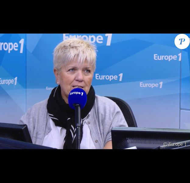 Mimie Mathy au micro d'Europe 1, le 10 avril 2017.