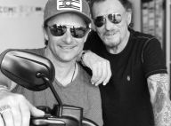 Johnny Hallyday heureux de retrouver son fils David à Los Angeles