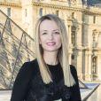 """Delphine Arnault - Photocall - Cocktail du dîner de présentation de la nouvelle collection Vuitton """"Masters, Les Grands Maîtres"""" en collaboration avec Jeff Koons au Louvre à Paris, le 11 avril 2017. © Olivier Borde/Bestimage"""