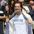 """Jim Carrey à l'émission """"Late Show With David Letterman"""" à New York, le 20 mai 2015"""