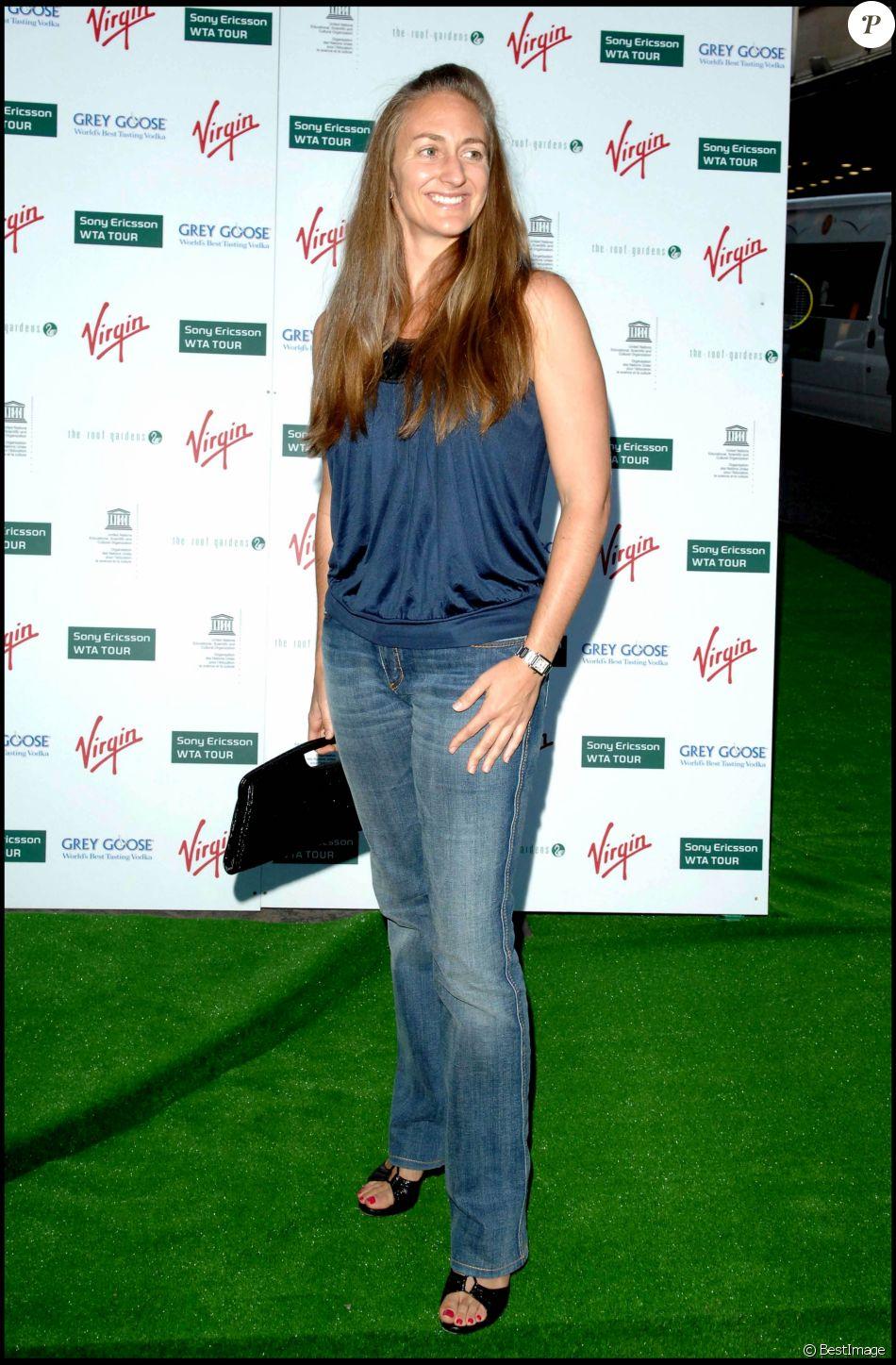 Mary Pierce  la soirée Wimbledon  Londres le 22 juin 2007