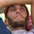 """Bastien, blessé, doit quitter l'aventure - """"Koh-Lanta Cambodge"""". Sur TF1, le 21 avril 2017."""
