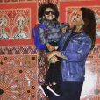 Photo de Rachel Legrain-Trapani et son fils Gianni en vacances à Agadir. Avril 2017.
