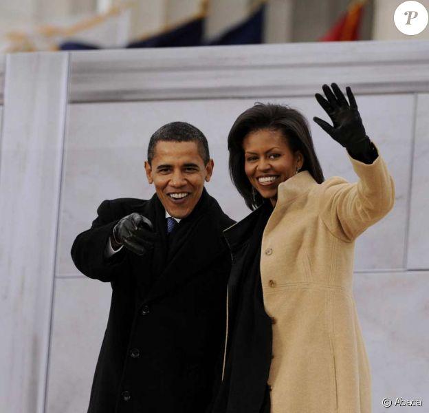 Dimanche 18 janvier 2009 : à deux jours de l'investiture de Barack Obama, un gigantesque show inaugural réunit des dizaines de stars et des centaines de milliers de fans en liesse. Ici, Barack Obama et son épouse Michelle sur la scène.