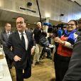 François Hollande vote à Tulle, le 23 avril 2017. © Patrick Bernard/Bestimage