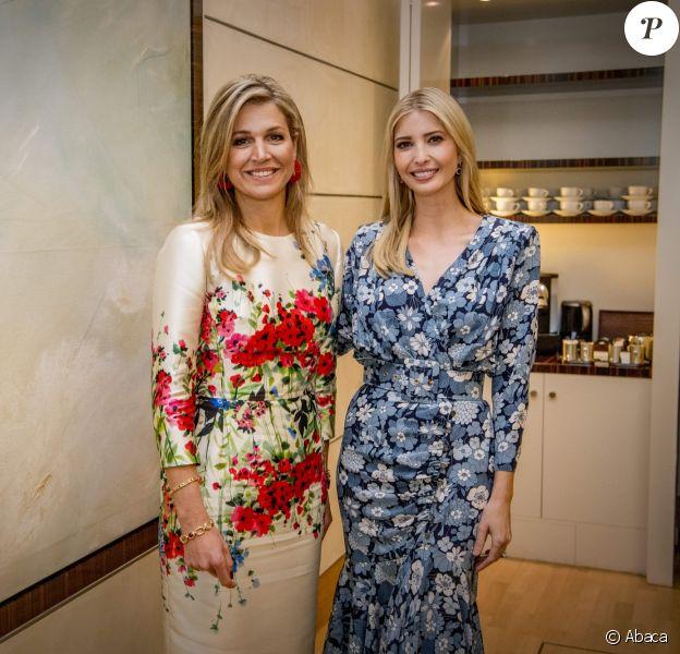 Ivanka Trump et la reine Maxima des Pays-Bas participent à la conférence 'Inspiring Women: Scaling Up Women's Entrepreneurship' en marge du sommet du G20 à Berlin. Le 25 avril 2017.
