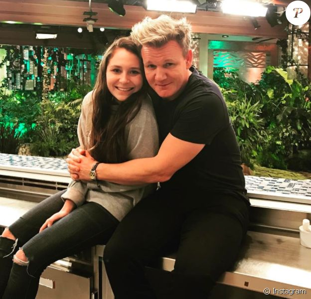 Megan Ramsay et son père Gordon, janvier 2017. Instagram Megan Ramsay.