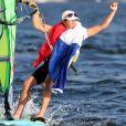 Charline Picon championne olympique de planche à voile à Rio le 14 août 2016.