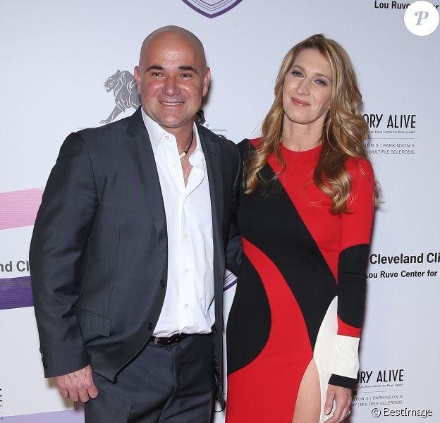 Andre Agassi et son épouse Steffi Graf - 21e édition du gala Power of Love® de la fondation Keep Memory Alive. Las Vegas, le 27 avril 2017. © Mjt/AdMedia via Zuma Press/Bestimage