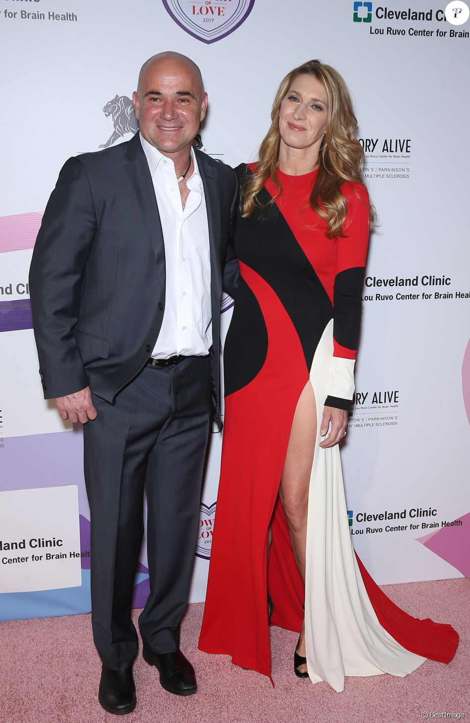 Andre Agassi et son épouse Steffi Graf - 21e édition du gala Power of Love® de la fondation Keep Memory Alive. Las Vegas, le 27 avril 2017. © Mjt/AdMedia via Zuma Press/Bestimage