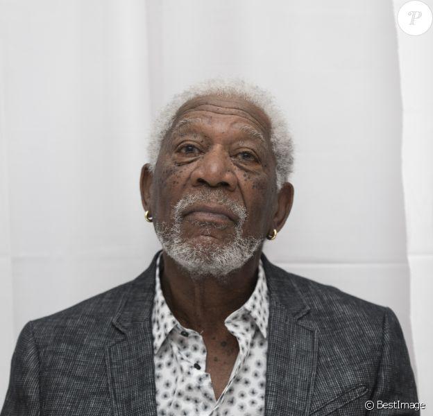 Morgan Freeman lors de la conférence de presse du film ''Braquage à l'ancienne''' (Going In Style) au Whitby Hotel à New York, le 25 mars 2017.25/03/2017 - New York
