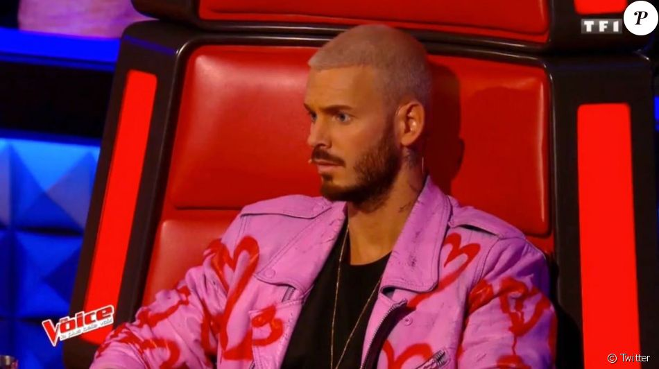 the voice 6 m pokora et sa veste rose divisent. Black Bedroom Furniture Sets. Home Design Ideas