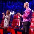 Florent Pagny, Mika, Zazie et Matt Pokora sur le plateau de The Voice. Émission du 6 mai 2017.