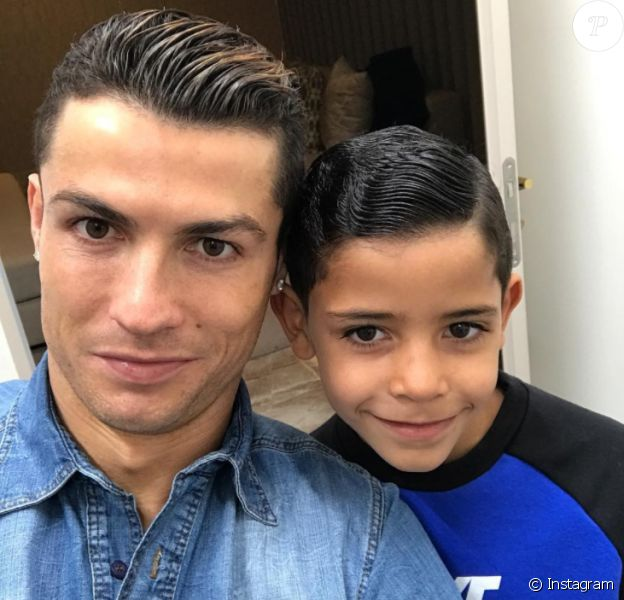 Cristiano Ronaldo et son fils Cristiano Jr. (Cristianinho), photo Instagram du 26 janvier 2017