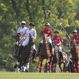 Le prince William participait à l'Audi Polo Challenge le 7 mai 2017 au club de polo de Coworth Park, à Ascot dans le Berkshire.