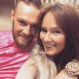 Conor McGregor et sa compagne Dee Devlin ont accueilli leur premier enfant le 5 mai 2017 à Dublin, Conor (Jr.) Jack McGregor. Photo ancienne publiée pour la Saint-Valentin 2017 sur Instagram.