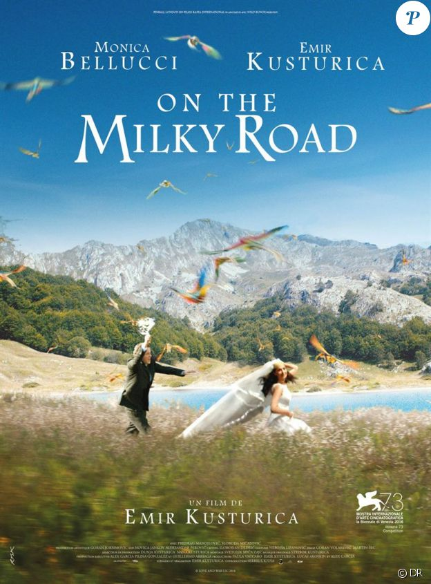 Affiche du film On the Milky Road d'Emir Kusturica (Sur la voie lactée)