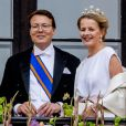 Le prince Constantijn, la princesse Mabel - Les familles royales au balcon lors du 80ème anniversaire du roi Harald et de la reine Sonja de Norvège à Oslo le 9 mai 2017. 09/05/2017 - Oslo