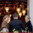 La princesse Stéphanie de Luxembourg et la comtesse Sophie de Wessex. Célébrations du double 80e anniversaire du roi Harald V de Norvège et de la reine Sonja de Norvège le 9 mai 2017 au palais royal à Oslo.