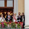 Célébrations du double 80e anniversaire du roi Harald V de Norvège et de la reine Sonja de Norvège le 9 mai 2017 au palais royal à Oslo.