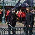 Jerry Bruckheimer lors de l'avant-première du film Pirates des Caraïbes 5 au parc Disneyland Paris, le 14 mai 2017.