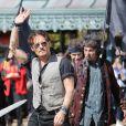 Johnny Depp lors de l'avant-première du film Pirates des Caraïbes 5 au parc Disneyland Paris, le 14 mai 2017.