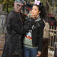 Sabrina Ouazani lors de l'avant-première du film Pirates des Caraïbes 5 au parc Disneyland Paris, le 14 mai 2017.