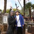 Malik Bentalha lors de l'avant-première du film Pirates des Caraïbes 5 au parc Disneyland Paris, le 14 mai 2017.