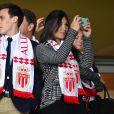 Louis Ducruet et sa compagne Marie durant la rencontre de Ligue 1 Monaco - Lille au stade Louis II de Monaco le 14 mai 2017. © Bruno Bebert / Bestimage