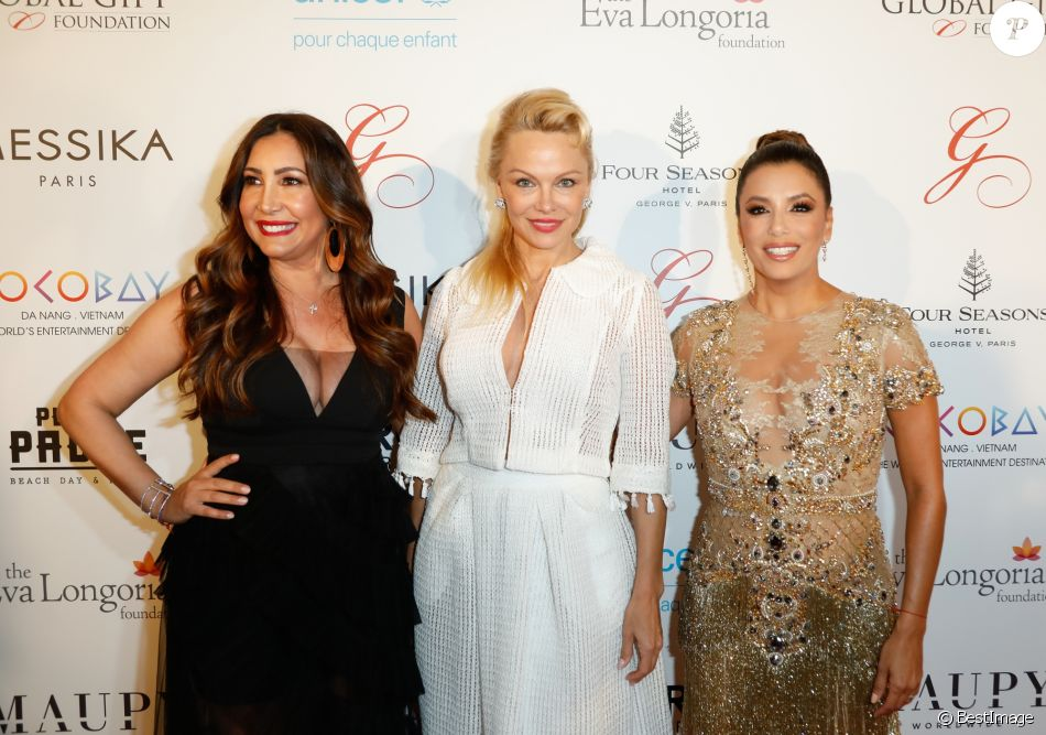 Maria Bravo, Pamela Anderson, Eva Longoria à la soirée Global Gift
