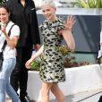 """Michelle Williams au photocall de """"Wonderstruck"""" lors du 70ème Festival International du Film de Cannes, porte une robe Louis Vuitton (collection croisière 2018). Le 18 mai 2017."""