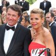 """Christian Estrosi et sa compagne Laura Ténoudji (Télématin) - Montée des marches du film """"Café Society"""" pour l'ouverture du 69ème Festival International du Film de Cannes. Le 11 mai 2016."""