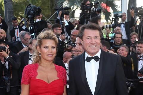 Christian Estrosi et Laura Tenoudji, enceinte, un couple radieux à Cannes