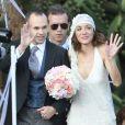 Mariage d'Andrés Iniesta et d'Anna Ortiz à Tarragone, en Espagne, le 8 juillet 2012.