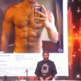 """Cyril Hanouna et son faux profil de rencontre gay dans """"TPMP ! Radio Baba"""", le 18 mai 2017 sur C8."""