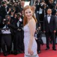 "Jessica Chastain (robe Givenchy) - Montée des marches du film ""Okja"" lors du 70e Festival International du Film de Cannes. Le 19 mai 2017. © Borde-Jacovides-Moreau / Bestimage"